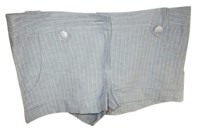 Kensie Linen Dress Shorts Gray and White