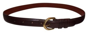 Coach COACH~ Belt~ #8400~ Small~ Mahogany~ Brass~ Excellent Condition!