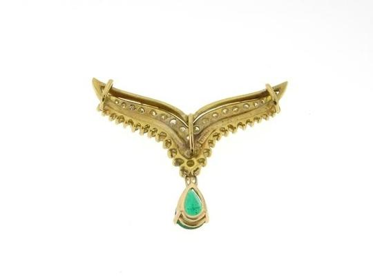 Other MUST HAVE - 18K Yellow Gold Diamond Emerald NECKLACE/ PENDANT/CHAIN TRIM