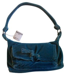 whatever Cotton Polyester Satchel in turquoise