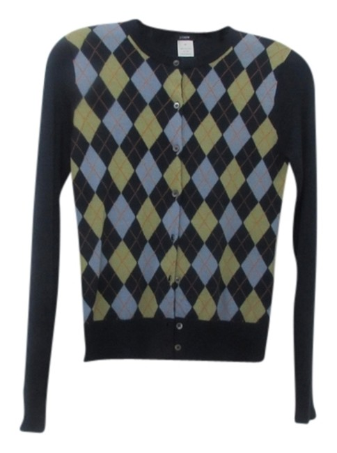 Preload https://img-static.tradesy.com/item/9157333/jcrew-dark-blue-with-argyle-button-down-sweaterpullover-size-2-xs-0-2-650-650.jpg