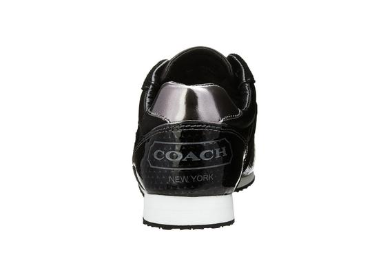 Coach Rudi Suede Sneakers Logo Black & Silver Athletic