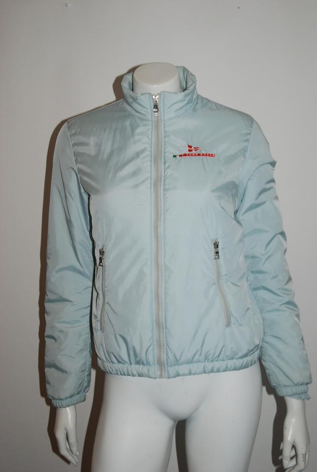 e5e57ea3eb1da Prada Light Blue Luna Rossa 36 Zip Front 42/Us Jacket Size 6 (S)