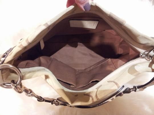Coach Tan/Cream Optic Signature Canvas Carly Hobo Bag Image 1