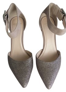 Cole Haan Suede Glitter Fabric Rose Gold Formal