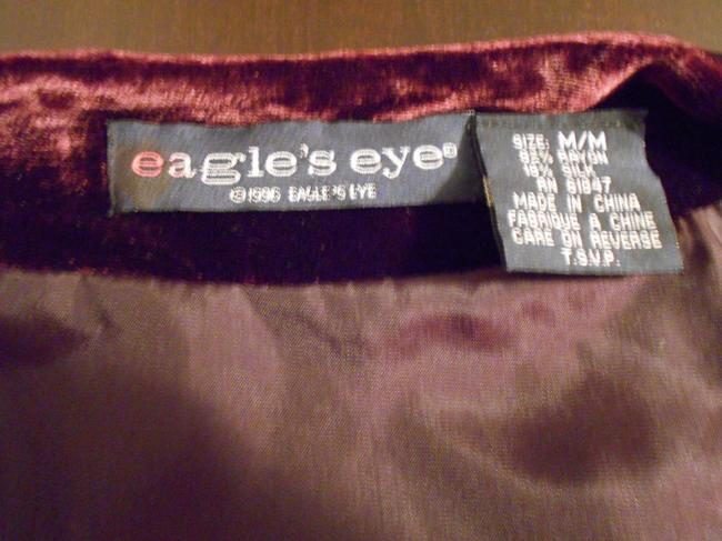 Other Vintage Eagle's Eye Top Burgundy Vest