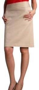 Express Suede Suede Pencil Skirt Beige