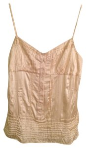 BCBGMAXAZRIA Silk Top Cream