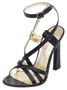 Dsquared2 Suede Genuine Leather Italy Black Sandals