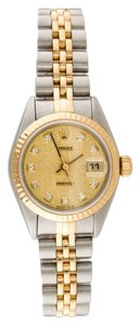 Rolex ROLEX DATEJUST 18K/SS STEEL ORIGINAL DIAMOND WATCH