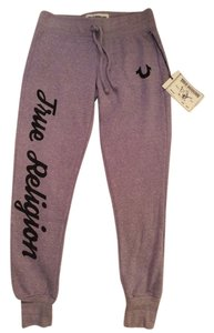 True Religion Studded Sporty Winter Athletic Pants Purple