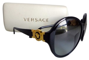 Versace Versace Large Black Gold Medusa Sunglasses