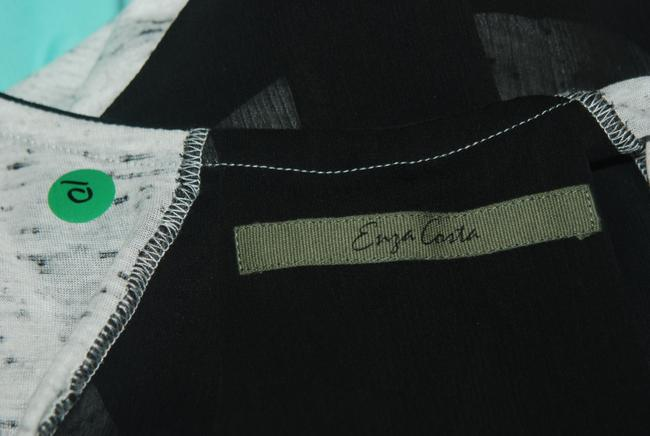 Enza Costa Long 2 Xs Top gray and black