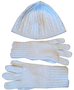 Express EXPRESS baby blue Angora hair hat & gloves- NEW