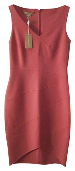 Item - Pink Above Knee Cocktail Dress Size 4 (S)