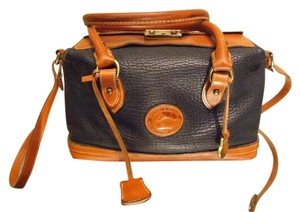 Dooney & Bourke Burke Leather Navy Travel Bag