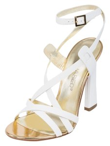 Dsquared2 Suede Genuine Leather Italy White Sandals