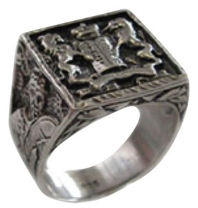MileChai Judaica Jewelry Lions & 10 Commandments Ring