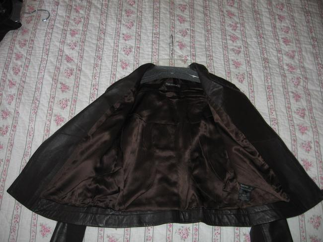 Paige Lambskin Size Large Brown Leather Jacket