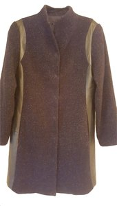 Eileen Fisher Long Italian Material Size Med Trench Coat