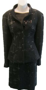 Chanel Chanel Black Skirt Jacket Suit 2PC Size 40