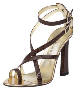 Dsquared2 Suede Genuine Leather Italy Brown Sandals