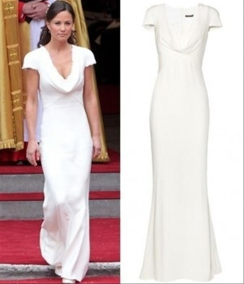 Cowl Neck Bridal Gown: Alexander Mcqueen Pippa Middleton Royal Cowl Neck Wedding