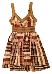 Anthropologie short dress Silk Knit Plaid Color Block on Tradesy