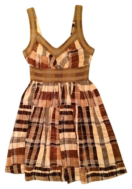 Anthropologie short dress Silk Knit Plaid Color Block Tracy Reese on Tradesy