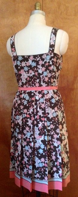 Ann Taylor LOFT Classic Floral Lined Pleated Silk Sleevelss Sundress Summer Dress