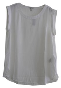 J.Crew Sleeveless Machine Washable Top Ivory