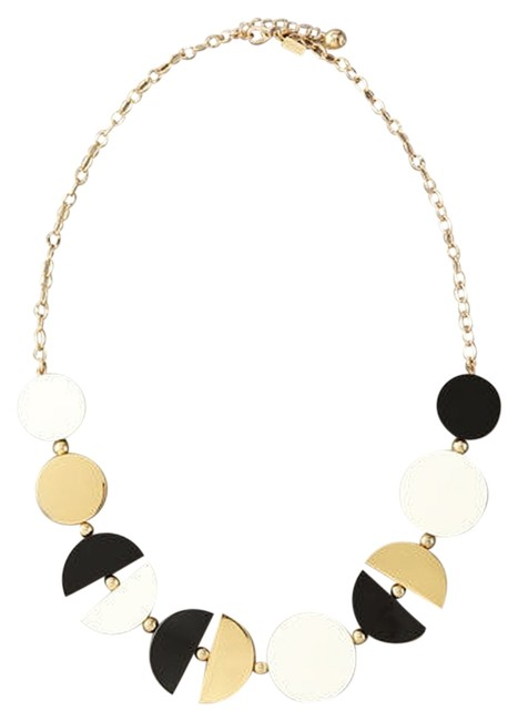 Kate Spade Classic 12k Gold & Black & White Double Exposure Free Spirit Artistic Soul Necklace Kate Spade Classic 12k Gold & Black & White Double Exposure Free Spirit Artistic Soul Necklace Image 1