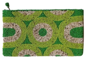 Beaded green Clutch