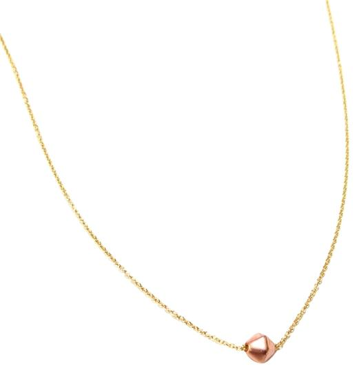 Elliot Francis Rose gold stone choker necklace