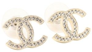 Chanel Chanel Gold Classic LARGE CC Earrings A42175