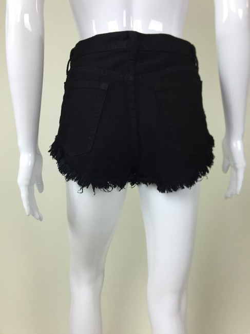 Other Color Spikes Black High Waist Color Cut Off Shorts Multi