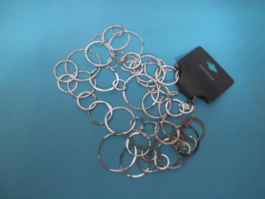 Express NWT Silver Variable Sizes Circle necklace
