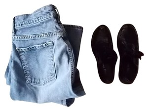 Old Navy Washed Casual Beach 4s Boot Cut Jeans-Medium Wash