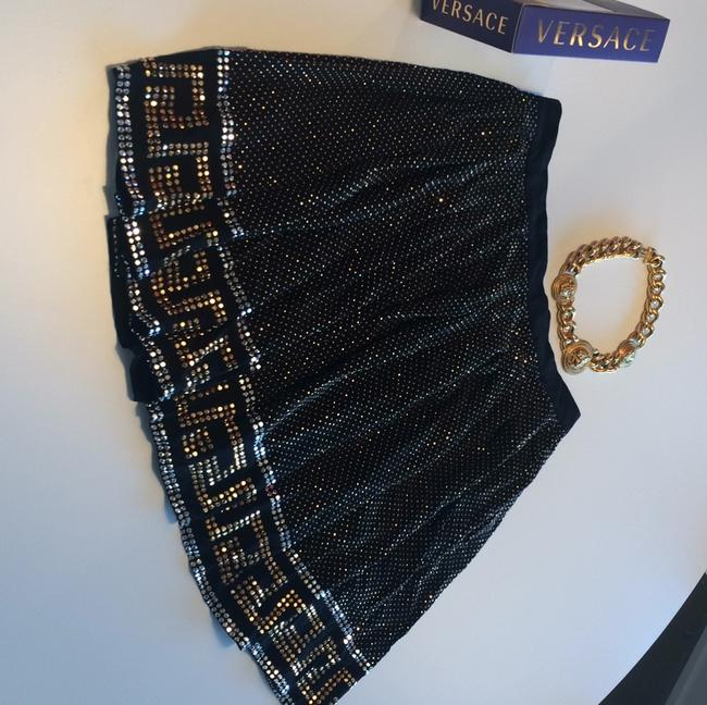 Versace for H&M Skirt Black and gold and silver