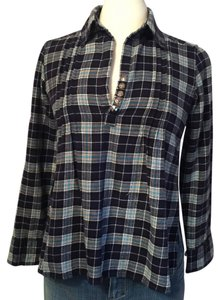 Sauce Top blue plaid - item med img