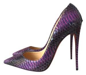 Christian Louboutin So Kate Watersnake Snakeskin Purple Pumps