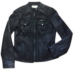 Michael by Michael Kors Blac Leather Jacket
