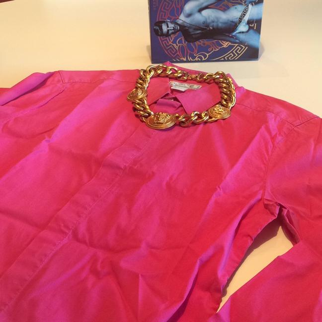 Versace for H&M Button Down Shirt Pink
