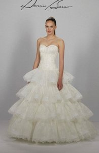 Dennis Basso Sweatheart Ball Gown In Lace Wedding Dress