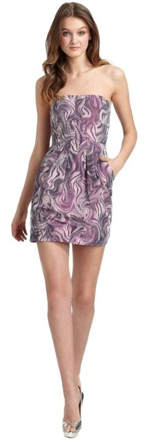 BCBGMAXAZRIA Printed Strapless Martina Cocktail Dress