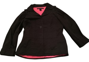 Marc by Marc Jacobs Black, hot pink lined Blazer