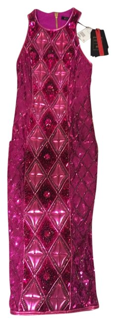 Item - Embellished Pink Knee Length Night Out Dress Size 2 (XS)