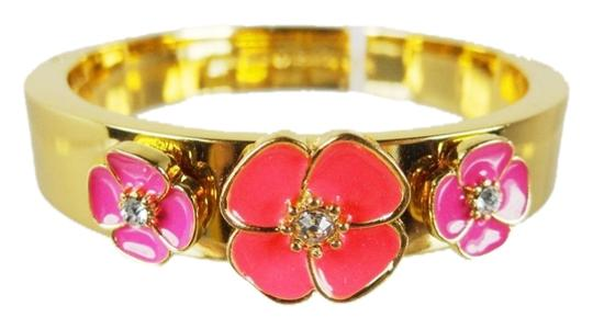 Preload https://img-static.tradesy.com/item/9166012/kate-spade-12k-gold-and-pink-enamel-flirty-fun-flutter-floral-hinged-great-for-stacking-and-pulling-0-1-540-540.jpg
