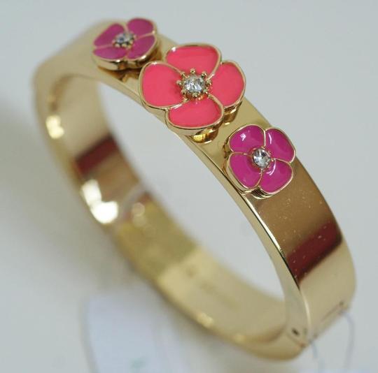 Kate Spade Flirty & Fun! Kate Spade Flutter Floral Hinged Bracelet! NWT Great for Stacking and Pulling In Pink Accents!