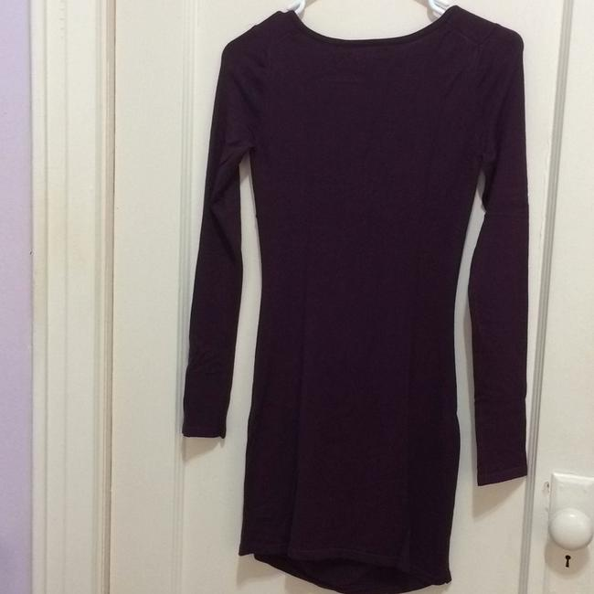 Express short dress Burgundy on Tradesy